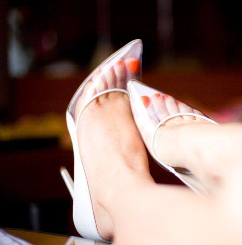 Обувь с прозрачным верхом
